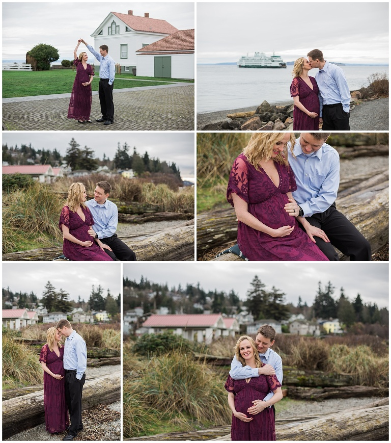 maternity photography at the beach everett washington